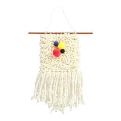 Annabelle Jouot Tissage en laine 3 pompons primaires fait main-listing
