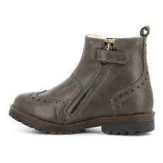 Pom d'Api Fur-Lined Leather Zip-Up Worky Boots-listing