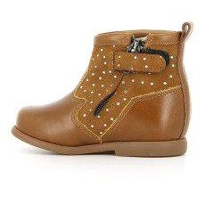 Pom d'Api Boots Cuir Zip Pois Nioupi-listing