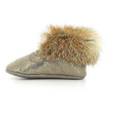 Pom d'Api Iridescent Leather Rabbit Fur Shoes-listing