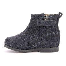 Pom d'Api Boots Suède Paillettes Zip Nioupi-listing