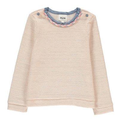 Blune Kids La Vie En Rose Lurex Sweatshirt-listing