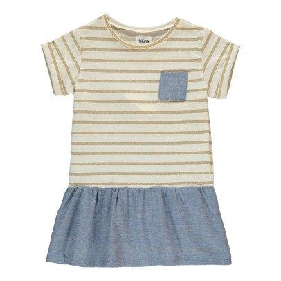 Blune Kids Sea Air Ruffled Chambray Dress-product