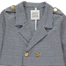 Douuod Gobbo Cross Striped Jacket-listing