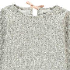 Blune Kids Gold Mine Lurex Quilted Sweatshirt-listing