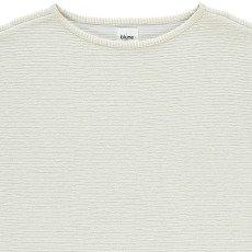 Blune Smart Lurex Striped Short Sleeve Sweasthirt-listing