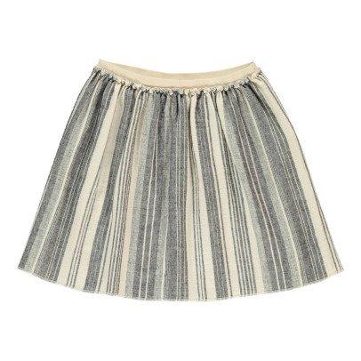 Douuod Kubrick Striped Skater Skirt-listing