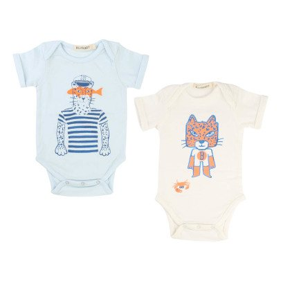 Billybandit Set of 2 Tiger Babygrows-listing