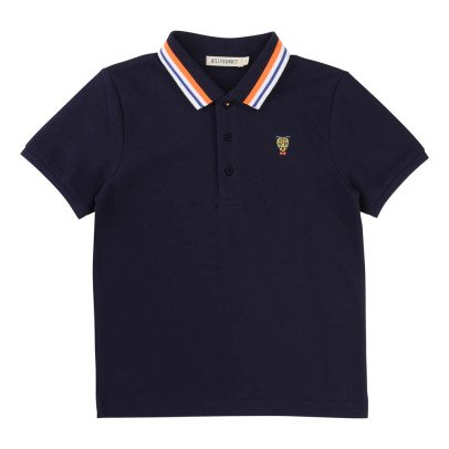 Billybandit Embroidered Contrasting Collar Leopard Polo-listing