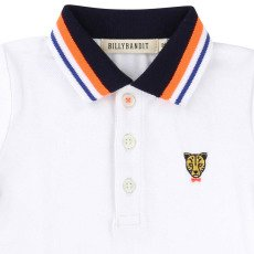 Billybandit Embroidered Leopard Contrast Collar Polo -listing