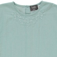 Tocoto Vintage Embroidered Crepe Blouse-listing