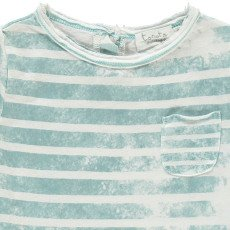 Tocoto Vintage T-shirt Righe Tasca-listing