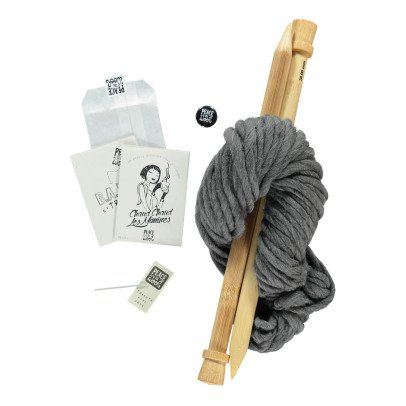 Peace and Wool Ash DIY Knitting Kit-listing