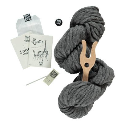 Peace and Wool Ash Lucette DIY Knitting Kit-listing
