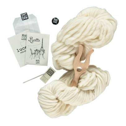Peace and Wool White Lucette DIY Knitting Kit-listing