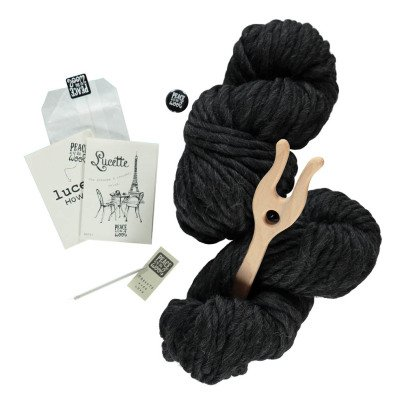 Peace and Wool Black Lucette DIY Knitting Kit-listing
