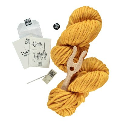 Peace and Wool Curry Lucette DIY Knitting Kit-listing