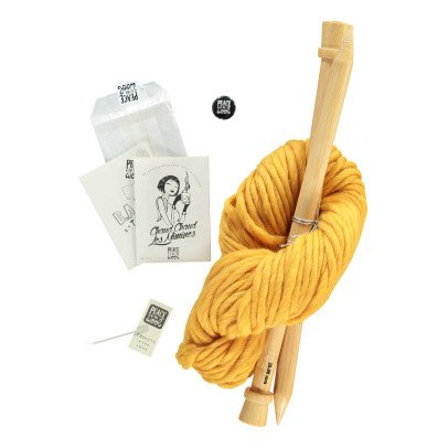Peace and Wool Curry DIY Knitting Kit-listing