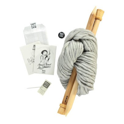 Peace and Wool Grey DIY Knitting Kit-listing