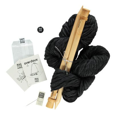 Peace and Wool Black Overdoux DIY Knitting Kit-listing