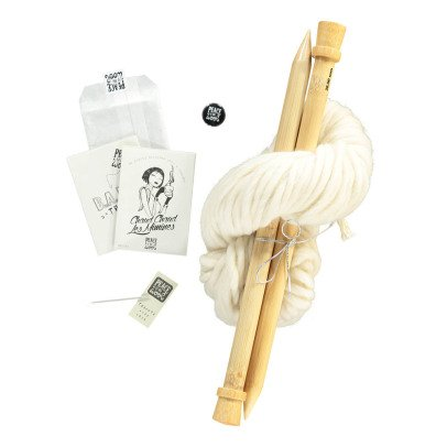 Peace and Wool White DIY Knitting Kit-listing