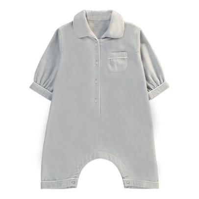 Caramel Buttoned Pyjamas Light grey-listing