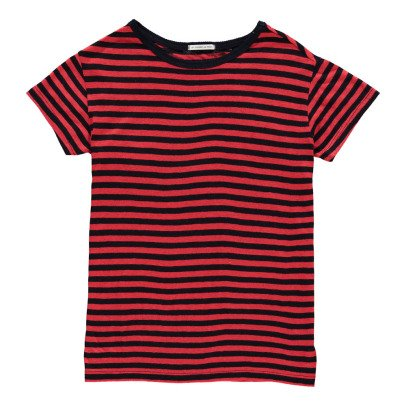Les coyotes de Paris Isabel Striped Linen T-Shirt-listing