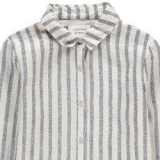 Les coyotes de Paris Clarisse Striped Linen Shirt-listing