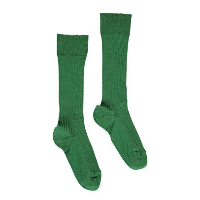 Noro Ribbed Scottish Lisle Cotton Socks Dark green-listing