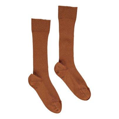 Noro Ribbed Scottish Lisle Cotton Socks Rust-listing