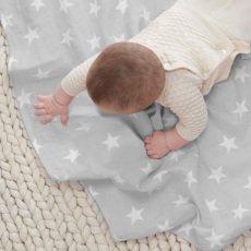 aden + anais  Manta grande algodón estrellas blancas-listing