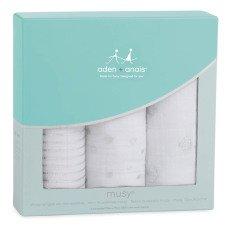 aden + anais  Manta blanco estampados plateados - Pack de 3-listing