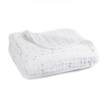 aden + anais  Manta blanca estampados plateados -listing
