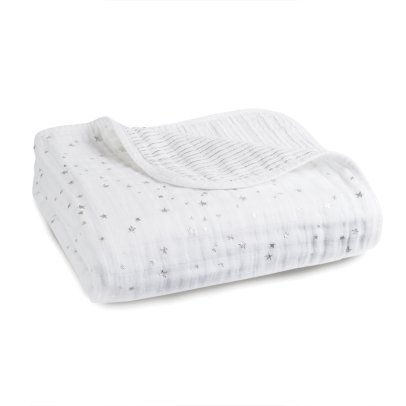 aden + anais  Silver Printed White Blanket-listing