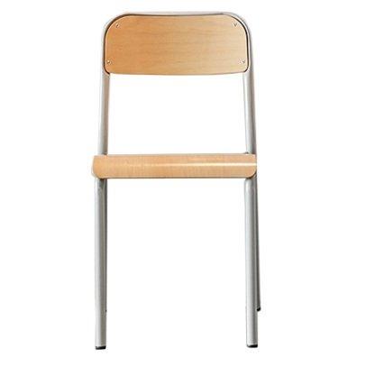 Zangra Chaise d'école tubulaire en bois empilable-listing