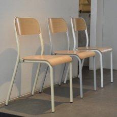 Zangra Silla de colegio tubular de madera apilable-product