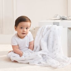 aden + anais  Silver Printed White Swaddling Blanket - Pack of 3-listing