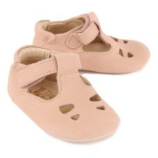 Young Soles Tipi Velcro Leather Mary Janes-listing