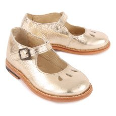 Young Soles June Iridescent Leather Mary Janes-listing