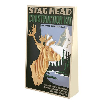 Professor Puzzle Naturel Stag Trophy Construction Kit-listing