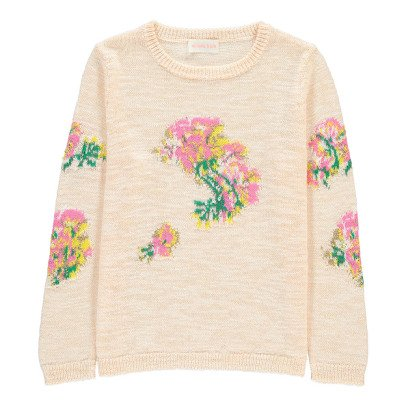 Simple Kids Pullover Bordados Flores Hawaï-listing