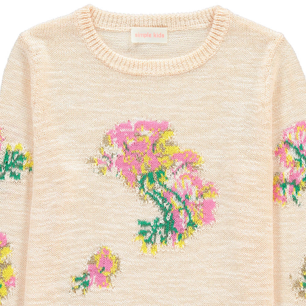 Simple Kids Hawaï Flower Embroidered Jumper-product