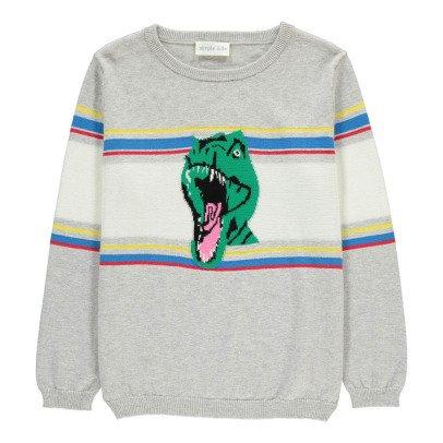 Simple Kids Dino Striped Jumper-listing