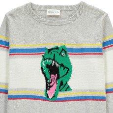 Simple Kids Gestreifter Pullover Dino -listing