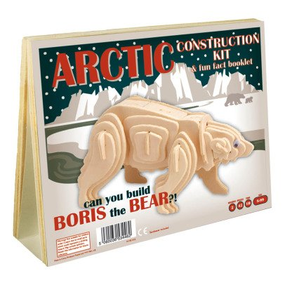 Professor Puzzle Naturel Boris Bear Construction Kit-listing