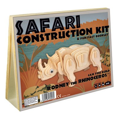 Professor Puzzle Naturel Rodney Rhino Construction Kit-listing