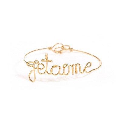 Atelier Paulin Bracelet Fil Je t'aime Cuivre Plaqué Or-listing