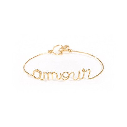 "Atelier Paulin Gold Plated Copper ""Amour"" Bracelet-listing"