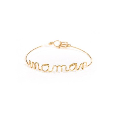 """Atelier Paulin Gold Plated Copper """"Maman"""" Bracelet-listing"""