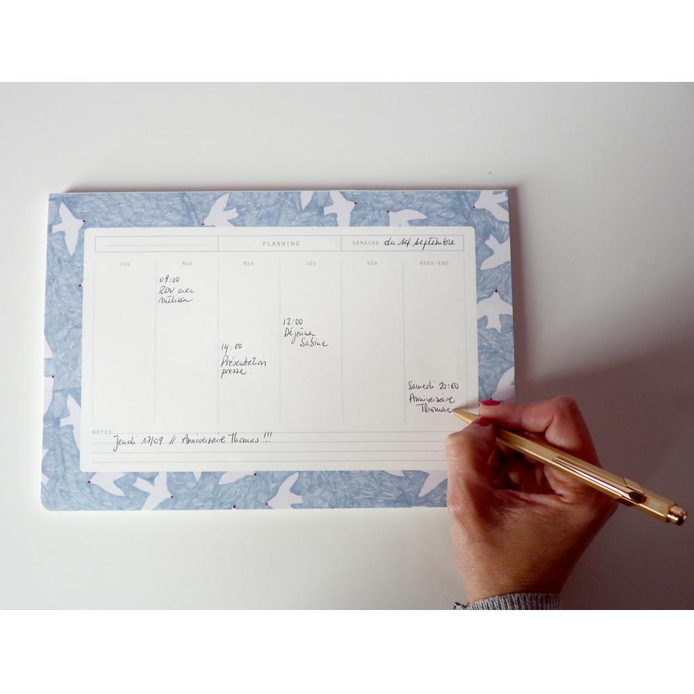 Season Paper Collection Semainier marbre Marbré blanc-product